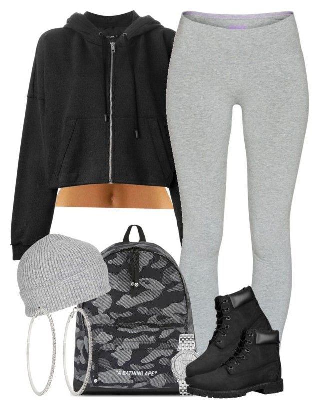 """""""Neutrals. """" by livelifefreelyy ❤ liked on Polyvore featuring rag & bone, TNA, A BATHING APE, Michael Kors, Timberland, Topshop and Roberta Chiarella"""