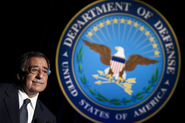 Leon Panetta (July 2011 - Present)  Secretary of Defense Leon E. Panetta pauses while speaking during a ceremonial swearing-in at the Department of Defense July 22, 2011 in