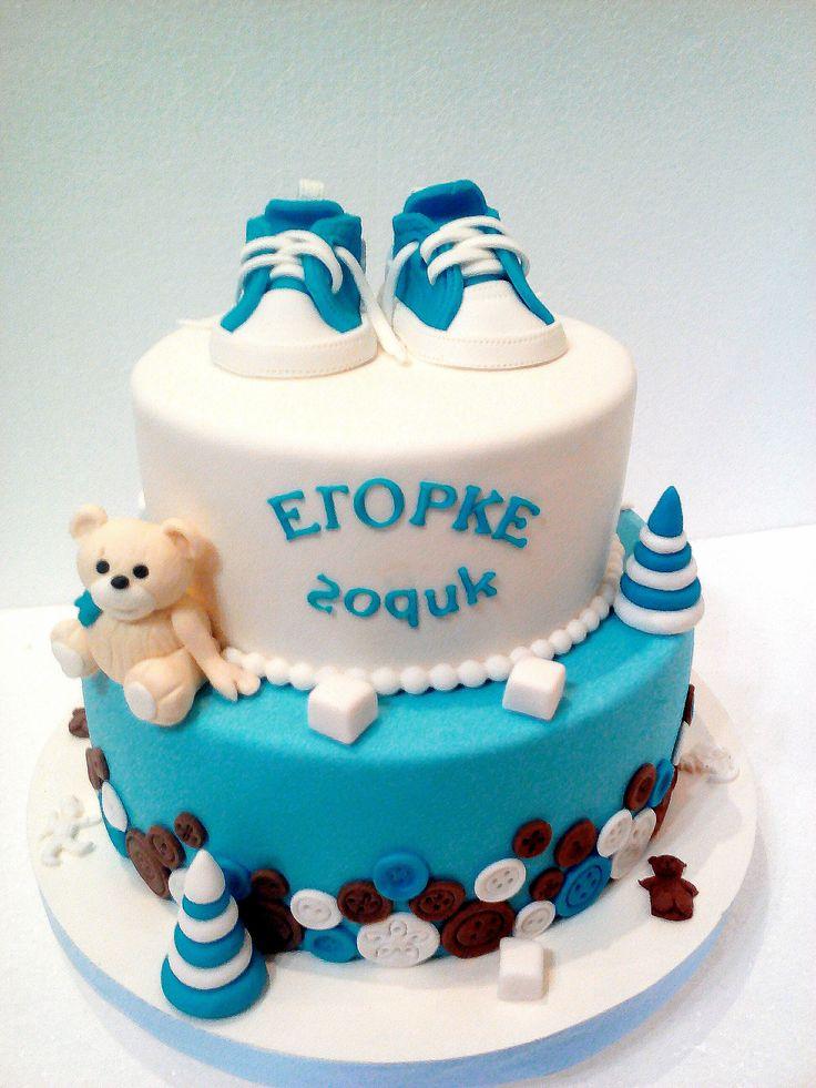 Торт на годик с пуговицами #торт_на_заказ_луганск #день_рождения #бисквитный_торт #шоколадный_торт
