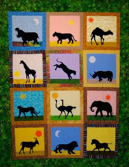 African Safari Animals Quilt