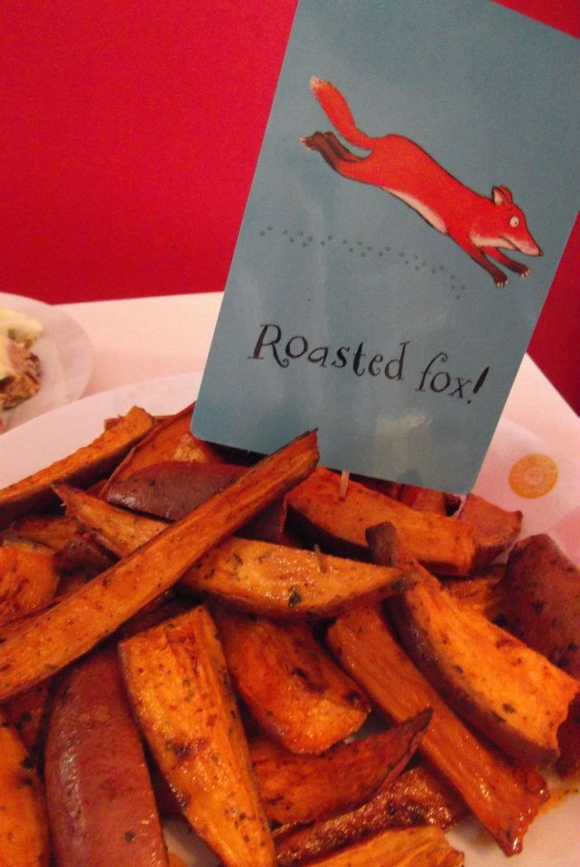 Roasted Fox - sweet potato wedges