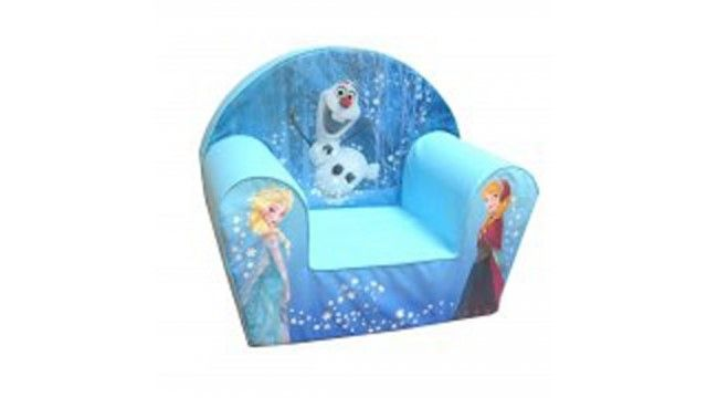 Disney Frozen Olaf/Anna/Elsa Kinder Fauteuil  Op deze Disney Frozen stoel ben jij de prinses! De zachte stoel heeft een uitwasbare stoffen hoes en is heerlijk om in te zitten of je nou tv wilt kijken een boekje leest of gewoon wilt relaxen.Op de stoel staan afbeeldingen van de prinsessen Elsa en Anna en van sneeuwpop Olaf uit Disney Frozen.  EUR 37.95  Meer informatie