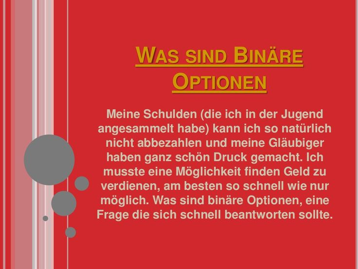 Was sind binäre optionen by BinareOptionenStrategies via slideshare