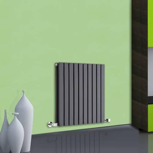 Sloane dubbelpaneel design radiator - 635mm x 600mm - 1191 Watt - Antraciet - Image 1