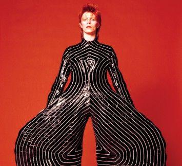Striped bodysuit for Aladdin Sane tour, 1973 Design by Kansai Yamamoto Photograph by Masayoshi Sukita © Sukita / The David Bowie Archive 2012