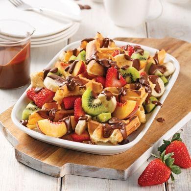Chocolat, fruits et gaufres sur le gril - Desserts - Recettes 5-15 - Recettes express 5/15 - Pratico Pratique