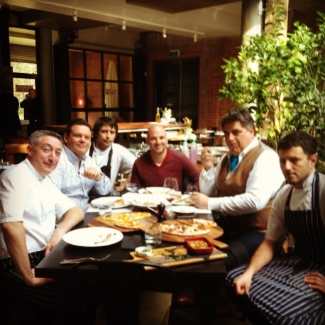 Gary Mehigan, George Calombaris & Matt Preston from #MasterChef Australia dropped in unexpectedly for some lunch today - they famously commented on the food & the ambience!