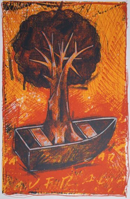 Manuel Velazquez  Utopia, 2006  Screenprint