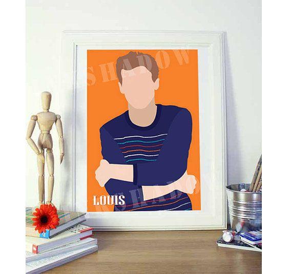 ONE DIRECTION Louis Tomlinson 8x11 in Original Art by Inkshadow, $21.00 #onedirection