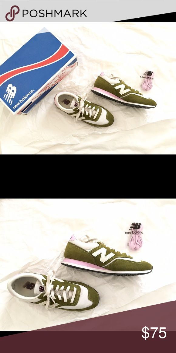 New Balance for J. Crew exclusive sneakers Cutest color combo: pink 🌸 and green 🌿 perfect for spring! Only wore 2x. Comes with pink and cream laces! J. Crew Shoes Athletic Shoes