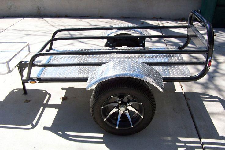 6 Passenger Vehicles >> atv passenger trailer | Motorcycle ATV 4 Wheeler Cargo Trailer Pull Behind | eBay | Cargo ...