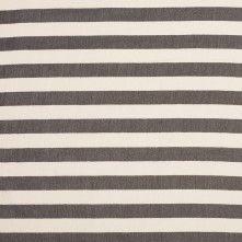 Antique White/Black Striped Silk Chiffon