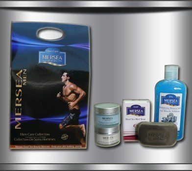 Men`s Care Collection by Mersea. $76.59. Dead Sea Mud Soap                                                                      125Gr. Exfoliating Shower Gel Angel - Blue Ocean                      400ml. 4 of our most popular men`s products all packaged in an attractive gift box. Suitable for any man in your life.