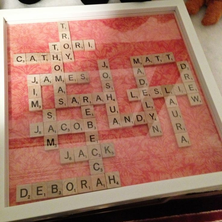 DIY Scrabble Tile Family Tree-Made one of these already but planning to make more :)