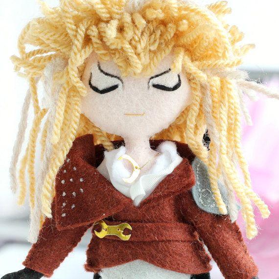 Jareth, David Bowie, Labyrinth movie. The Goblin King art doll. Movie Icons, Labyrinth art doll.