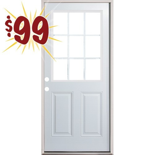 2 8 9 lite fiberglass prehung back door beautiful for Cheap front and back doors