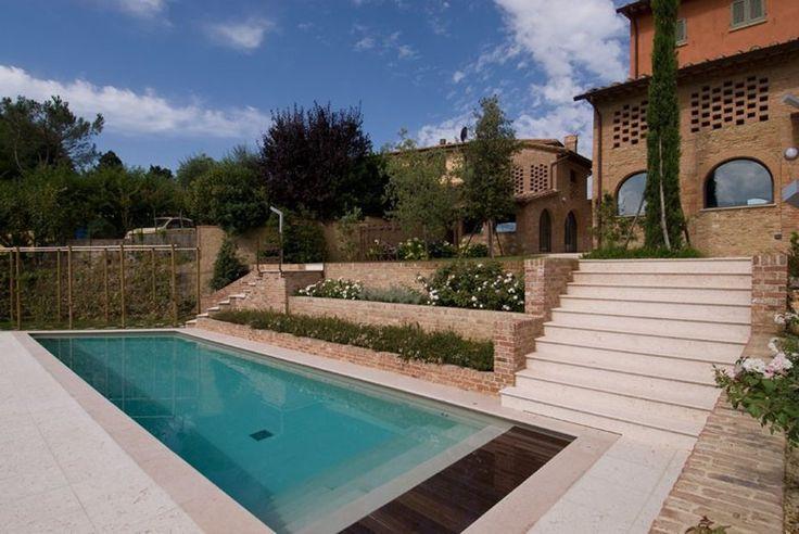 Swimming pool in Pink Prun Limestone