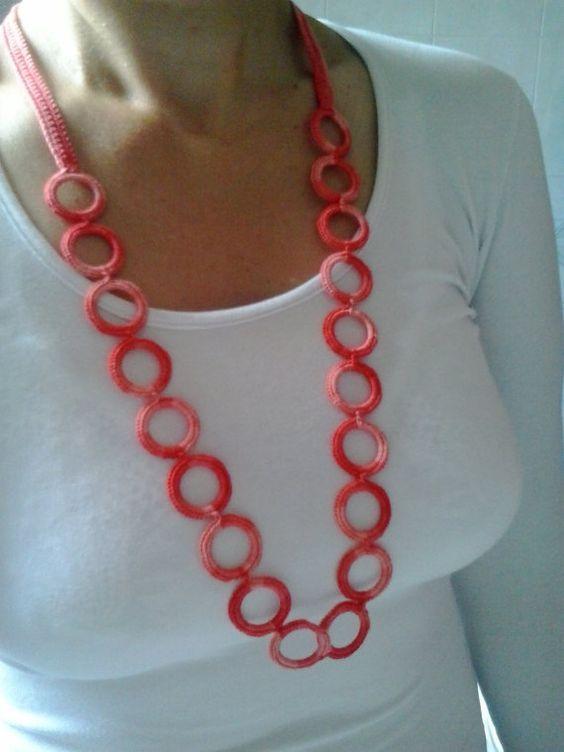 Coral Ring Necklace   Crochet   Pinterest   Häkeln