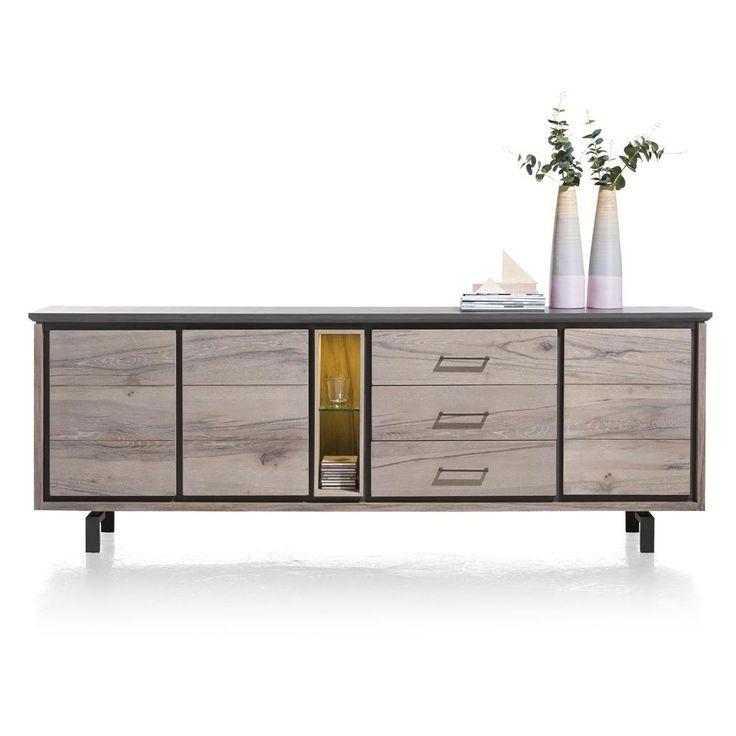 Eivissa dressoir 240cm met marble beton van het merk Henders&Hazel koop je zonder verzendosten en snel bij deleukstemeubels.nl | Deleukstemeubels.nl