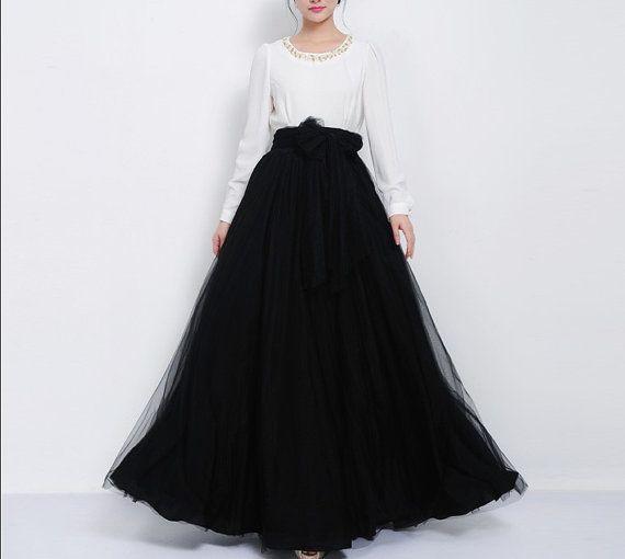 17 Best ideas about Long Black Tulle Skirt on Pinterest ...