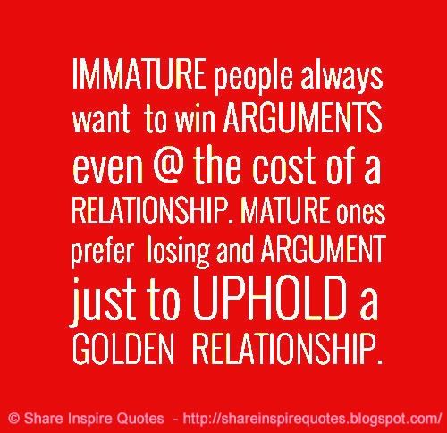 immature things to do in a relationship