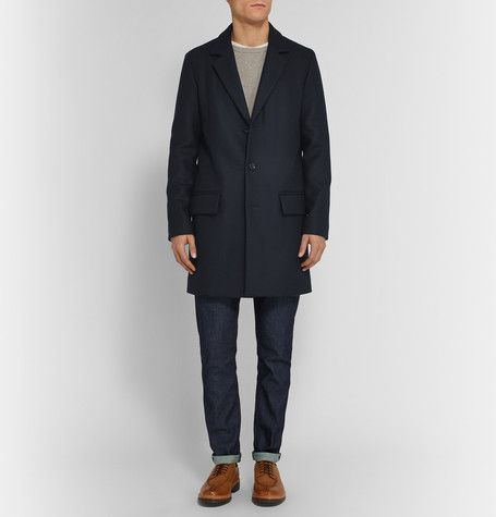 0b4ec162ab6 A.P.C. Double-Faced Wool-Blend Overcoat | Overcoat | Men's coats, jackets,  Wool blend, Wool