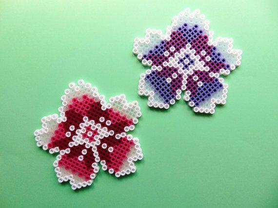 Hama/Perler/Fuse Bead Blossom Floral Pixel Art by PinkuUsagiChan