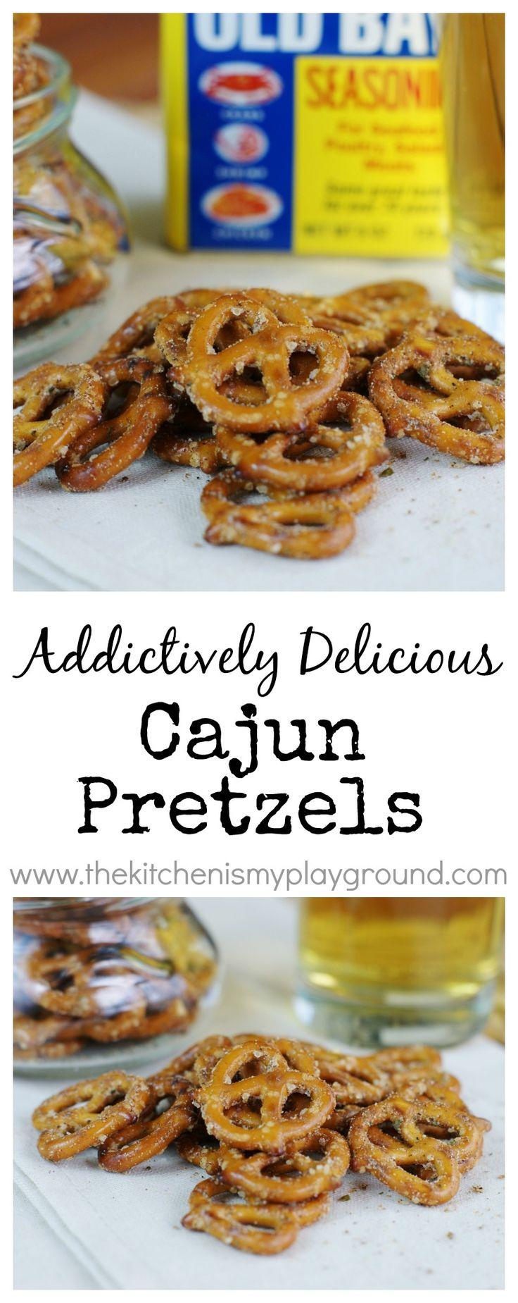 Cajun Pretzels ~ they're addictively delicious!   www.thekitchenismyplayground.com