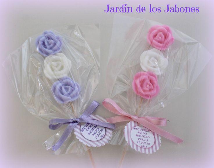 JARDIN DE LOS JABONES: BAUTIZO PIRULETAS DE ROSAS