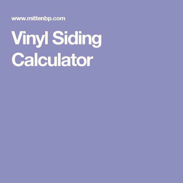 Vinyl Siding Calculator