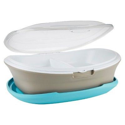 Fit & Fresh Go Platter Insulated Food Carrier with Reusable Ice Packs, Blue