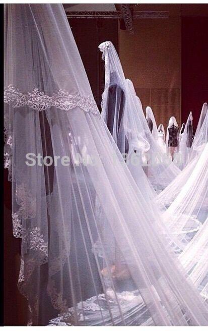 Barato Romântico duas camadas renda longo véus de noiva acessórios do casamento, Compro Qualidade Véus de Noiva diretamente de fornecedores da China:                         Bem-vindo ao Denias nupcial 002                                                      Custo
