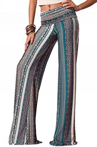 Plus size tribal palazzo pants