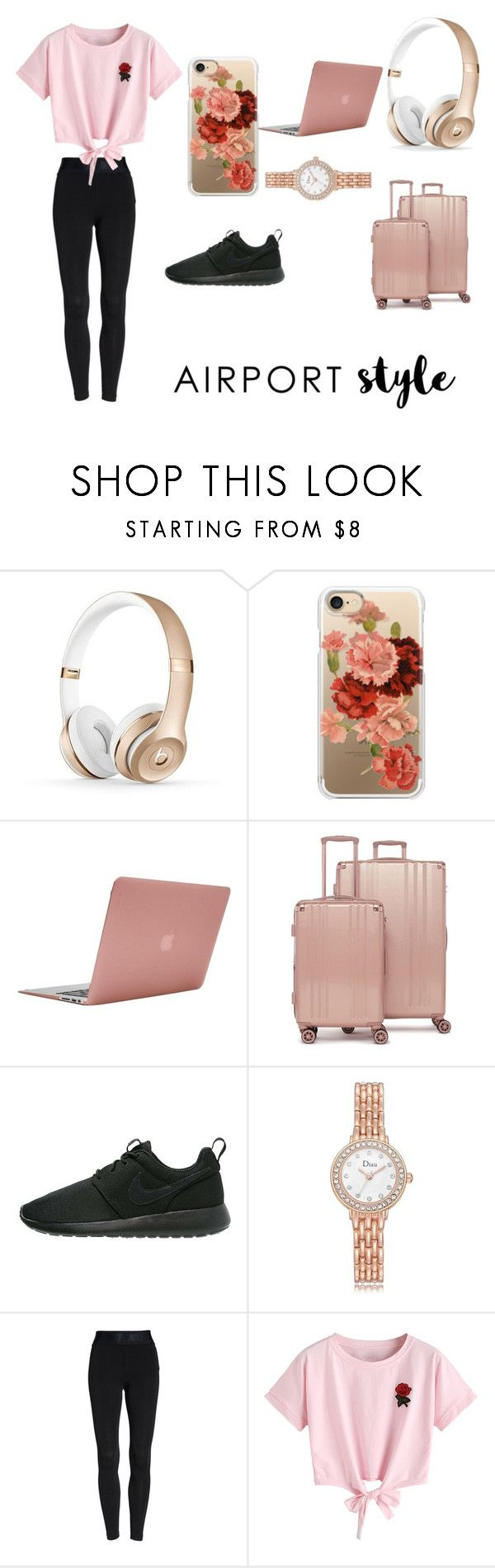 """""""Untitled #5"""" by vicente83112 ❤ liked on Polyvore featuring Casetify, Incase, CalPak, NIKE, WithChic and airportstyle"""