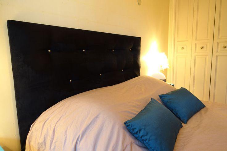 Une tête de lit capitonnée : Des têtes de lit originales et faciles àfabriquer - Linternaute.com Bricolage