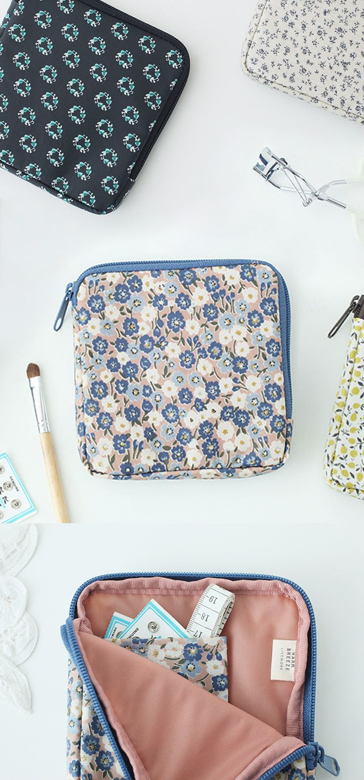 The perfect little pouch? We think so! This cutie is simple with light padding and a bonus pocket inside. Use the Warm Breeze Mini Pattern Pouch to carry your makeup, feminine hygiene products, sewing kit, craft supplies, and more! Check it out along with all our unique pouches.
