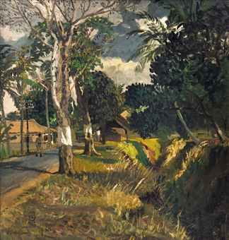 S Sudjojono - Jalan di Muka Rumah Kami (The Road in Front of Our House) (sold by Christie's $ 345,602)