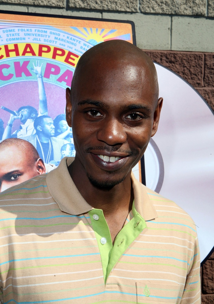 David Chappelle - comedian well known for his standup, one of my favorite movies Half Baked, and for the iconic sketch comedy show known as The Chappelle Show.