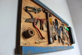 Vintage Auto Mechanic Creeper Display Board For Tools or Where to Spell a Name Using Tools