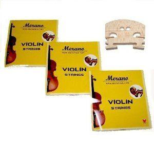 3 Sets Merano STV100 1/8 Size Violin String + Bridge by Merano. $12.88
