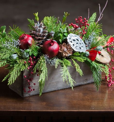 Winter Berry Centerpiece This joyful centerpiece, adorning your table, will be the perfect addition to your home during this winter season. With the delightful scents of pine, eucalyptus, and an assortment of berries, your home will be filled with aromas throughout all of your celebrations this season. http://CustomCardDiva.com