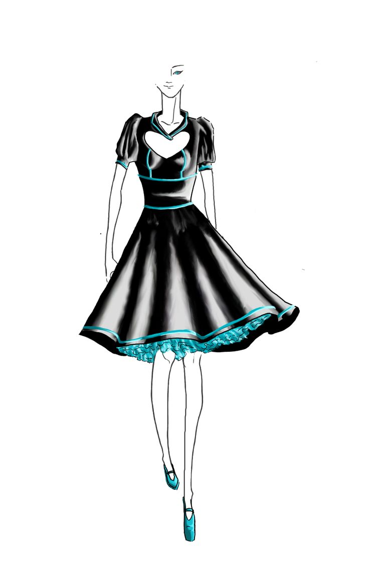 The Design I made for my prom dress