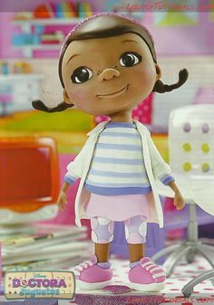 Doc McStuffins cake topper tutorial
