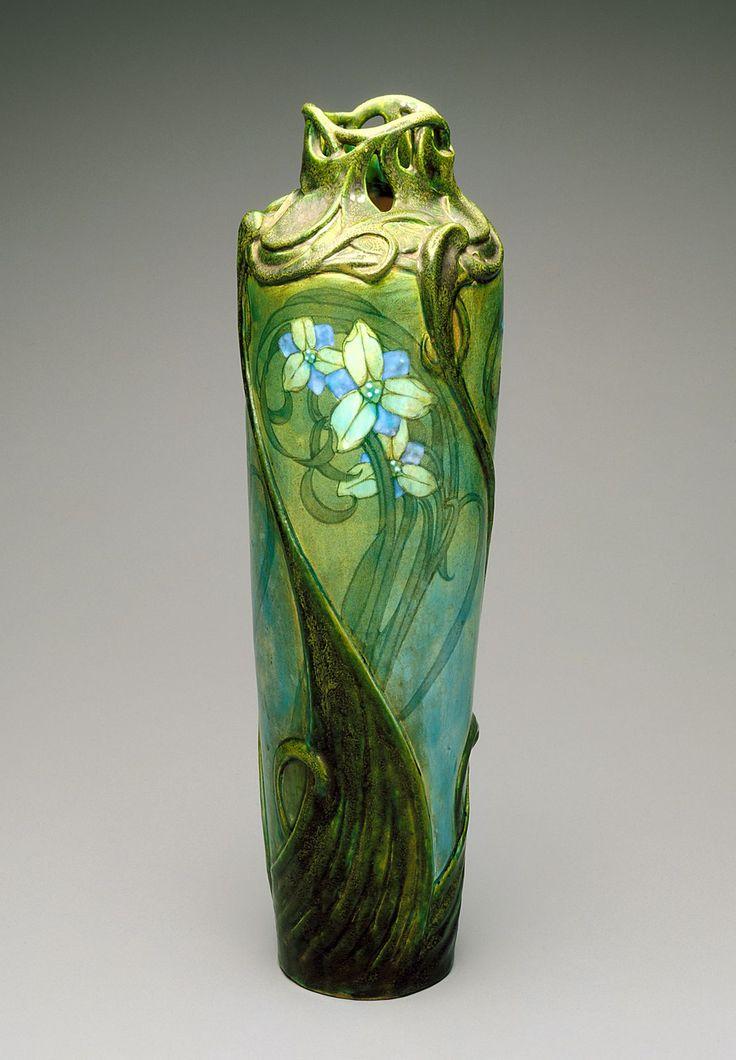 omgthatartifact:  Vase Edmond Lachenal, 1900 The Indianapolis Museum of Art
