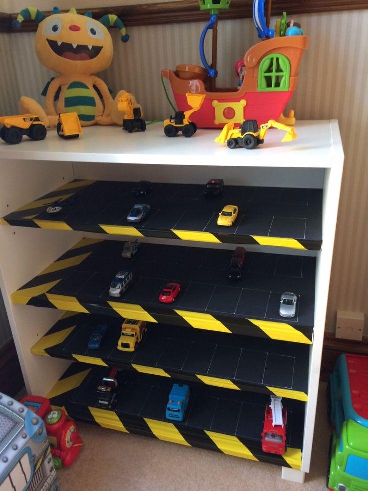Kids Toy Car Park Storage Shelves Diy Kids Furniture Diy Toys Car Toy Car Storage