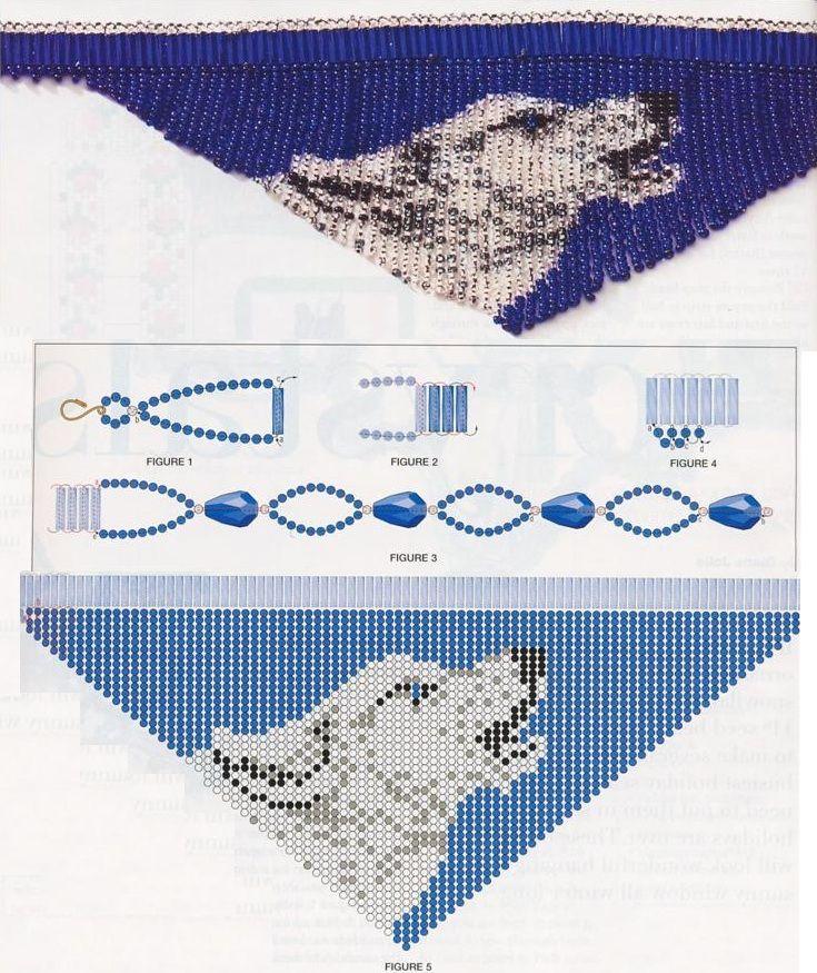 Плетение колье из бисера