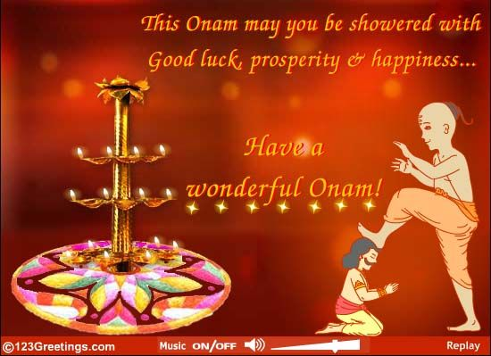 Happy Onam via 123greetings.com