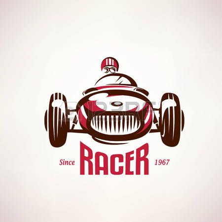 retro raceauto, vintage vector symbool, embleem, labelsjabloon. Stockfoto - 45333837
