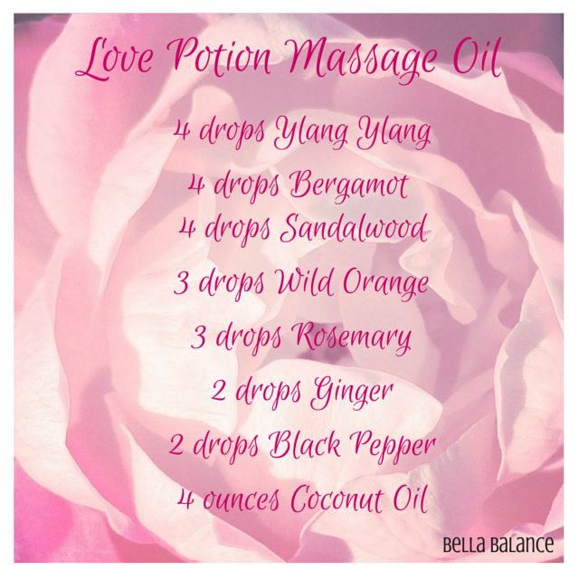 Romantic Homemade Love Potions - Personal Essential Oil .