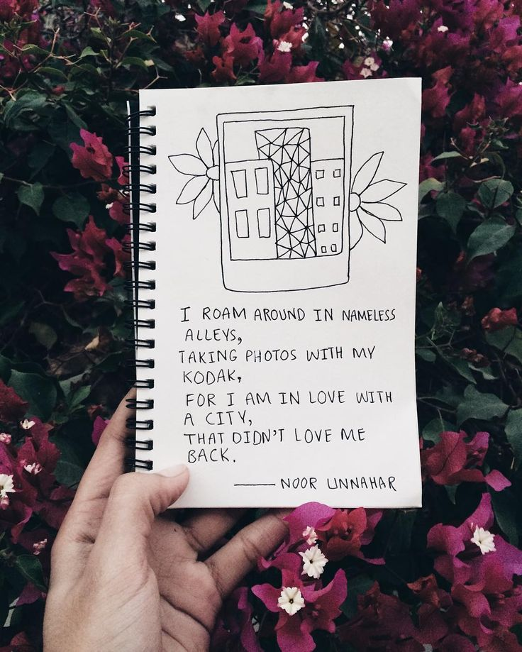'i roam around in nameless alleys, taking photos with my kodak, for i am in love a city, that didn't love me back' // poetry by Noor Unnahar  // journaling, illustration, art journal ideas inspiration, hipsters, crafts, notebook, tumblr aesthetics, photography, instagram ideas, words, passion, floral, quotes, creative artists writers, poems //